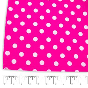 Toalha Quadrada Poás Pink e Branca 160x160