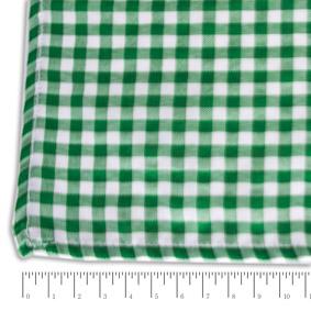 Toalha Quadrada Xadrez Verde e Branca 1,36X1,36