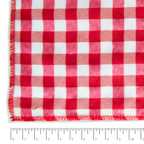 Toalha Quadrada Xadrez Vermelha e Branca 1,40X1,40