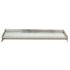 Porta Doce de Prata Retangular c/Espelho 90x20