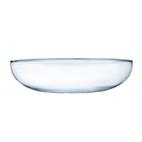 Saladeira de vidro lisa rasa 35x29cm