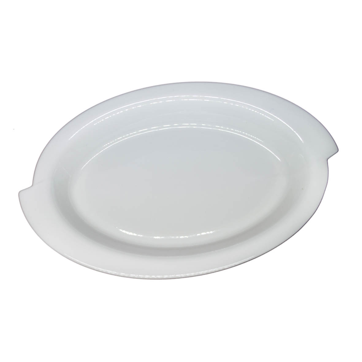 Travessa de Porcelana Oval Borda S 46x25,5x9