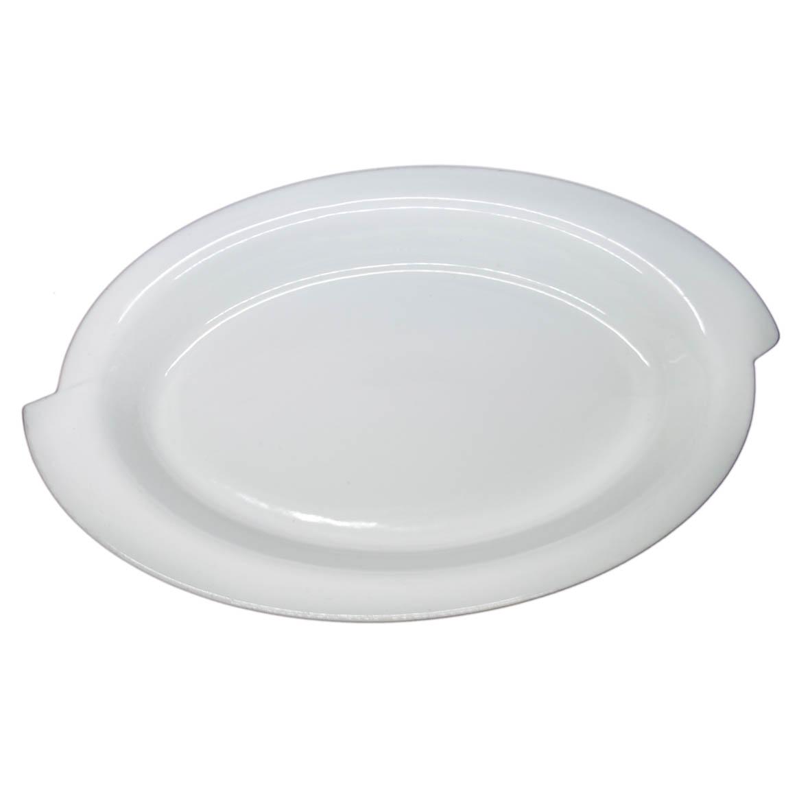 Travessa de Porcelana Oval Borda S 59x32,5x7