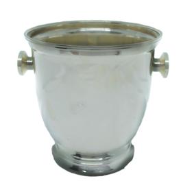 Balde de Gelo Prata Alça Botão Liso P