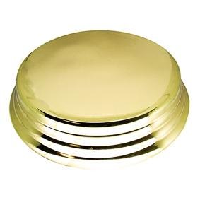 Porta Bolo Redondo Dourado 50 cm
