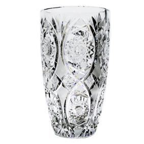 Vaso Cristal Trabalhado Cilindrico 2,1L