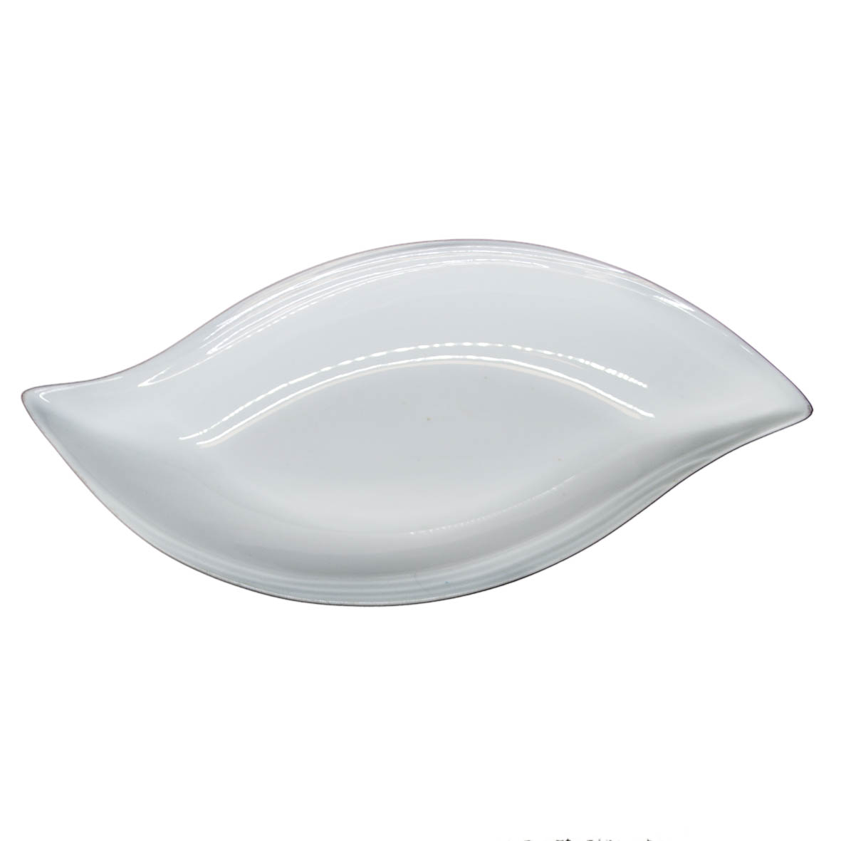 Travessa de Porcelana Oval Borda S Frisada 43x21x6