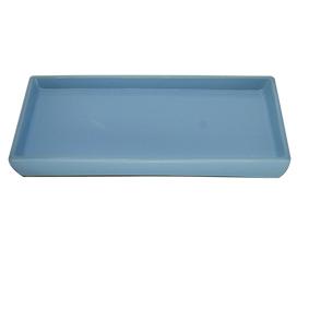 Travessa de Porcelana Retangular Lisa Azul Bebê 26x13x3