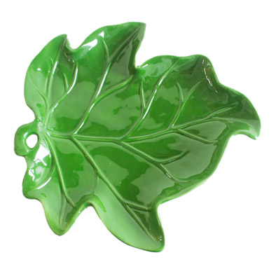 Prato de Cerâmica Folha Verde G
