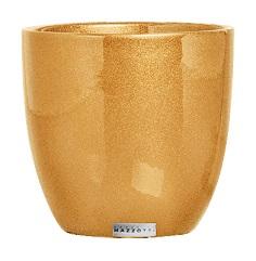Cachepot Cerâmica Baixo Dourado