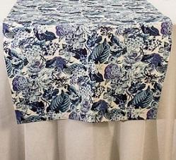 Trilho Acquablock Floral Azul 380x60