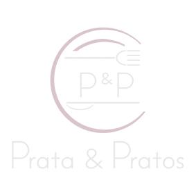 Champanheira de Prata Redonda Lisa Reta 2 Alças 38x15cm